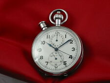 Heuer SAVIC Rattrapante Split Second Pocket watch Chronograph Valjoux 76 R
