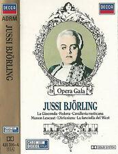 JUSSI BJORLING CASSETTE ALBUM DECCA OPERA GALA LA GIOCONDA FEDORA