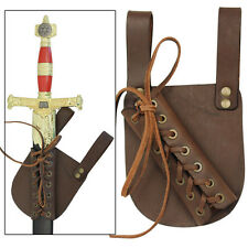 Pendragon Medieval Raw Umber Leather Knights Renaissance Sword Frog
