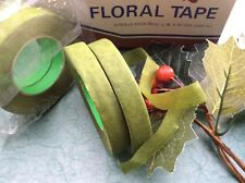 """2 ROLLS """"STRETCHY"""" GREEN FLORIST TAPE, CORSAGE, BOUQUETS, STEMS, FLOWERS, CRAFTS"""