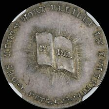 FINEST & ONLY@ PCGS & NGC MS63 1817 GERMAN REFORMATION SILVER MEDAL UBER-TONED