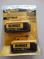 DeWalt DCB204-2  20V 20 Volt Max XR 4.0 Amp Lithium Ion Battery Packs NIP NEW
