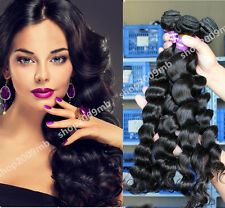 8A Brazilian Human Hair 200G/4 Bundles Weft Virgin Loose Wave Weave 10X4 Thick
