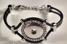 SNAP BRACELET Interchangeable JEWELRY Charm Button 18mm Fits Ginger Snaps