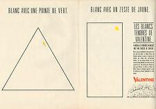Publicité 1984 ( Double page )  Peinture VALENTINE