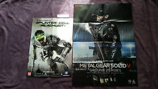 POSTERS METAL GEAR SOLID V GROUND ZEROES  + TOM CLANCY'S SPLINTER CELL BLACKLIST