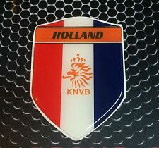 "Holland KNVB Dutch Proud Shield Domed Decal Emblem Car Sticker 3D 2.3""x 3.3"""