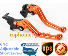 For KTM Duke / RC 125 200 390 2011-2016 Short Clutch Brake Levers CNC Orange US