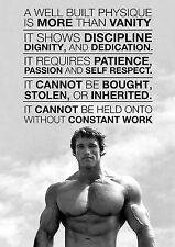 Arnold Schwarzenegger A4 260gsm Poster Motivation Gym Retro