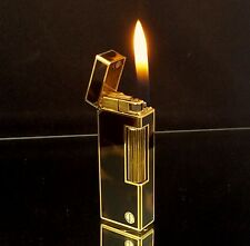 1982 dunhill ROLLAGAS Faux Tortoiseshell Lacquer Lighter - SERVICED & Guaranteed