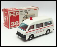 TOMICA #36 TOYOTA HIACE AMBULANCE VAN 1/66 TOMY DIECAST CAR MADE IN JAPAN