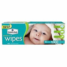 Member's Mark Premium Baby Wet Wipes 10 Packs of 100 (1000 Ct) Unscented NEW!