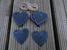 Chalkboard Heart Tags - Great for Wedding Name Cards - pack 10 with string