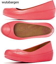 FitFlop Due Punch Pink Leather Flats US 9 EUR 41 UK 7 $129