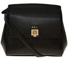 Ralph Lauren new black leather mini / small satchel / shoulder bag / handbag RRL