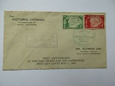 Philippine Stamps/First Day Cover May 7, 1943 Bataan/Corregidor