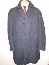 """Genuine Vintage Crombie Wool Winter Coat Mac Size 42"""" Euro 52 R - Grey"""