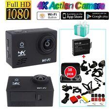 """2.0"""" SJ8000 4K 30fps 170° 1080P WiFi Action Caméra+38-en-1 Accessories +Batterie"""