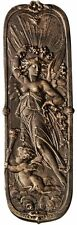 Victorian Day Maiden & Cherub Sun Rays Antique Replica Iron Door Plate