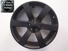 "4) 22"" Tires Wheels Package Chevy TrailBlazer SS Envoy Replica Rim Flt Black Set"