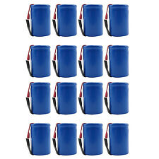 16PCS 4/5 Sub C 1600mAh 1.2V Ni-CD Rechargeable Battery Tabs Blue 22.2x34.32mm