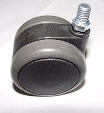 Stuhlrolle Hartbodenrolle 65 mm Gewinde 10 mm für Laminat Fliesen Parkett Bremse