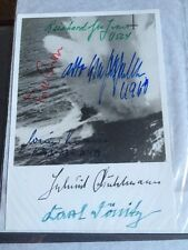 U Boat Commanders & Donitz, Rare  Signed Photograph 2