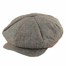 Jaxon Brown Herringbone Big Apple Newsboy Cap Peaky Blinders Style Gatsby Hat