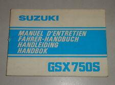 Betriebsanleitung Suzuki Motorrad GSX 750 S Stand 06/1981
