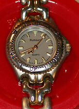 RUMOURS METAL WATCH GOLD/SILVER BAND GRAY FACE W/BATTERY