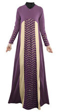 Women Clothes Kaftan Abaya Muslim Islamic Jilbab Vintage Long Sleeve Maxi Dress