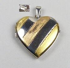 Herz-Anhänger/Medaillon zum Aufklappen für Bilder aus 925er Silber (da4487)