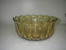 Anchor Hocking Glass FAIRFIELD Amber Salad Serving  Bowl Pressed Scalloped.