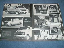 "1975 Dodge Tradesman Vintage Custom Van Article ""Daily Transportation"""