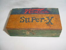 Vintage Western Super X Small Wood Ammo Box 5 3/4 x 3 x 1 5/8
