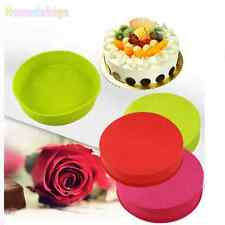 Round Silicone Cake Mold Pan Muffin Chocolate Pizza Pastry Baking Tray Mould