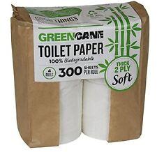Greencane Paper 2 Pieghe Toilette Paper300 Fogli Confezione Da 4 12