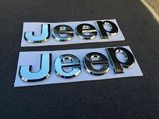 NEW 2PC JEEP CHROME 3M LETTERS HOOD I TRUNK TAILGATE I FENDER EMBLEM BADGE LOGO
