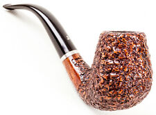 Unsmoked Ser Jacopo Rusticated Bent Brandy (R1) (Maxima) Pipe Pipa