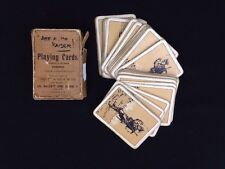 Antique World War I British ARF A MO KAISER WW1 Playing Cards Complete Deck