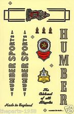 1X HUMBER SPORTS VINTAGE BICYCLE BIKE STICKER DECAL FREE SHIPPING