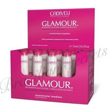 CADIVEU GLAMOUR RUBI INSTANT DRY HAIR RECONSTRUCTION & SHINE BOX 10x 15ml DOSE