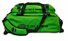 Vise Green 3 Ball Tote Bowling Bag With Shoe Pouch