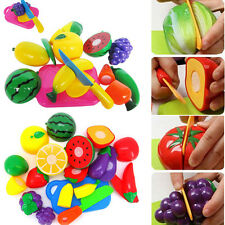 1Set Kitchen Food Play Toy Cutting Vegetable Fruit Knife For Kids Baby Xmas Gift
