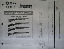 Crosman Air Rifle Gun Repair Pellet 140 147 1400 Seal Reseal O-Ring Kit Crossman