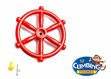 RED PIRATE SHIP BOAT STEERING WHEEL CLIMBING FRAME NEW Tree Playhouse Jungle Gym