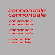 Cannondale Bicycle Frame Stickers - Decals - Transfers: Red. n.15