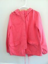 Mossimo women's pink coat hoodie hooded jacket button down pre-owned used
