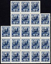 Russia blk of 22 issue of 1932-1933 Foreign Exchange 5R stamps Michel#VIId MNHOG
