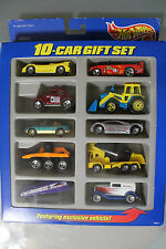 Hot Wheels 1:64 Scale 1997 HOT WHEELS 10 CAR GIFT SET (YELLOW FERRARI TOP LEFT)